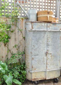 vintage metal cabinet for outdoor storage