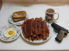 According to the Internet, this is what Europeans think breakfast in America is like.