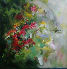 Acrylic abstract florals on canvas By Nurten Koçboğan