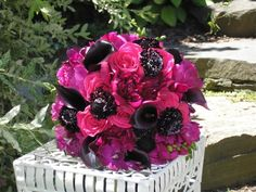 Pink and Black Bouquet