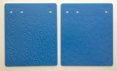 2 Fiskars Texture Embossing Plates 4 Designs Vines Snowflakes Raindrops Filigree Like New Condition