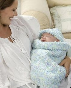 Best Free Crochet » Free Baby Cocoon Crochet Pattern from RedHeart.com