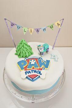 Everest Paw Patrol Cake Paw Patrol Birthday Cake, 4th Birthday Cakes, Paw Patrol Party, 3rd Birthday Parties, Birthday Ideas, Paw Patrol Cake Toppers, Rosalie, Diy Cake, Cakes For Boys