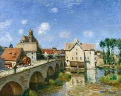 The Bridge at Moret from Alfred Sisley