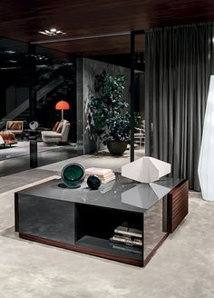 Contemporary low sideboard by Rodolfo Dordoni - CONNORS - Minotti