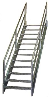 Best Galvanized Stairs Metal Stairs Osha Prefab Stairways 640 x 480