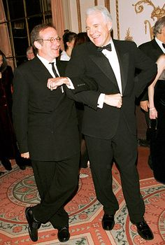 Steve Martin: @SteveMartinToGo: I could not be more stunned by the loss of Robin Williams, mensch, great talent, acting partner, genuine soul.