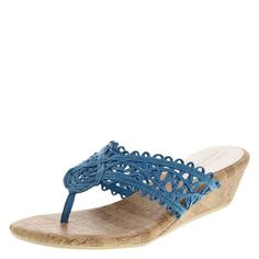 """This lightweight sandal brings a bit of style to a comfortable wedge. The Rita features a braided upper, Predictions' signature Comfort Plus padded insole, 2"""" wedge, and rubber outsole. Manmade materials."""