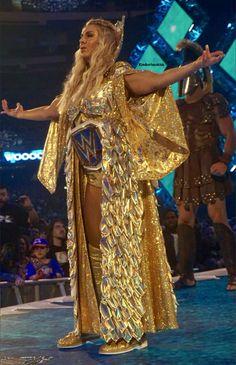 WWE Wrestlemania 34 New Orleans Smackdown Women's Championship Charlotte Flair 💗💪🏆 Wrestling Stars, Wrestling Divas, Women's Wrestling, Wwe Wrestlemania 34, Charlotte Flair Wwe, Paige Wwe, Vince Mcmahon, Wwe Female Wrestlers, Ric Flair