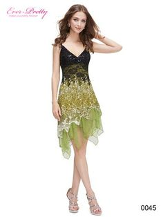 Ever-Pretty Flowing Green Lace Cocktail Dress