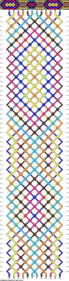 Cool pattern friendship bracelet pattern