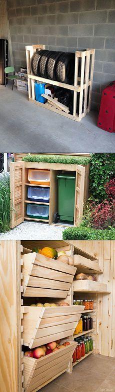 Идеи хранения для дачи и огорода - 6 соток