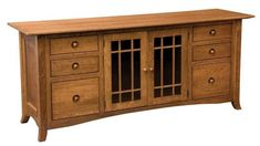 Amish Shaker Hill Credenza With Six Drawers Enjoy ample storage with lots of drawers and cabinets. The Shaker Hill comes in choice of wood and stain.