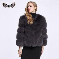 Hot Nature Real Sliver Fox Fur Coats Women Coat Fur Women Jacket Womens Winter