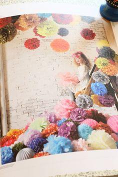 素敵なペーパーポンポンの本♪~ペーパーポンポン飾り方ブック ~ : 赤いキノコ手芸団