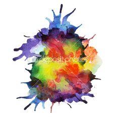 Аннотация рисованной акварельный фон, векторные иллюстрации, пятна акварели цвета мокрого на мокрой бумаге. Акварель состав для элементов записки