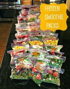 Great smoothie recipe ideas and tutorial for how to make frozen smoothie packs in bulk to save time and money and ensure you and your family is eating healthy.
