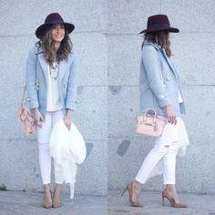 Trendtation.com : look-Besugarandspice Me gusta ese conjunto. Me gusta eso abrigo, y blanco vaqueros y camisa. Me no gustan esos zapatos de tacón no se porque. -Emma