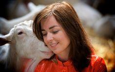 Marianne Thieme met geitje