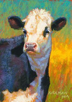 """Brisket"" pastel, 7x5 inches. Click the image to bid!"
