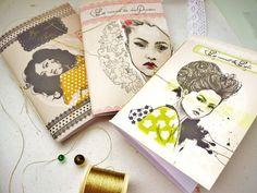 3 petits carnets femmes d'Asie, format A6 : Carnets, agendas par mes-tites-lilis