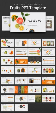 This 'Fruits PPT Template' is a PowerPoint presentation template designed with a theme related to fruits and food. By using this template containing various Ppt Design, Food Design, Powerpoint Design Templates, Design Brochure, Free Ppt Template, Keynote Template, Booklet Design, Design Layouts, Design Posters
