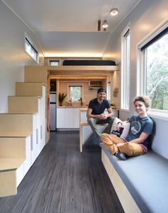 Hey everyone! Tiny house dwellers Samantha and Robert here! We are two young professionals with full time careers and we just designed and built our own 204 square foot tiny house on wheels; Tyni House, Tiny House Living, House Floor, Tiny House Plans, Tiny House On Wheels, Plan Chalet, Modern Shed, Shed Homes, Tiny Homes
