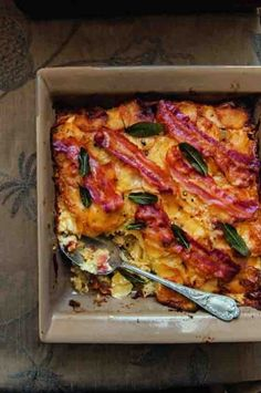 Crispy bacon and sage dauphinoise with garlic and cream
