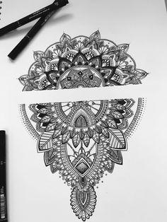 Mandala ✏️ designed and drawn by me :) #doodles #mandala #drawing #mehndi