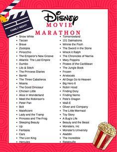 Free Printable Disney Movie Marathon List