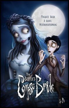 The Corpse Bride with Helena Bonham Carter and Johnny Depp, Dir Tim Burton Bon Film, Film D'animation, Film Serie, Scary Movies, Great Movies, Horror Movies, Cartoon Movies, Love Movie, Movie Tv