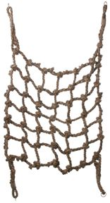 Aronico Canopy Climbing Nets!  Made from natural twisted Abaca rope, these huge climbing nets promote exercise and foraging. Reconfigure in any way your bird desires!