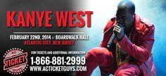 Kanye West Boardwalk Hall Atlantic City 02/22/2014