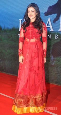 Mishti, who plays the lead in Kaanchi, was red hot in a long kurta/skirt by Neeta Lulla at 'Kaanchi' music launch. #Style #Bollywood #Fashion #Beauty