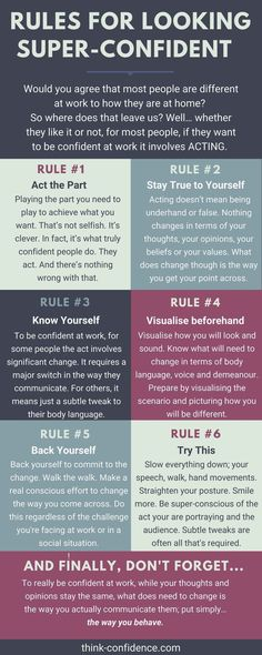 How to be super-confident at work and in social situations. Rules not to forget about body language and how you speak. #personaldevelopment #personaldevelopmentactivities #personalcare #selfdevelopment #selfimprovement