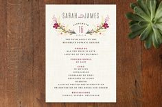 Botanical Blooms Wedding Programs by Kristie Kern at minted.com
