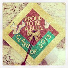 fbd3186965a Graduation cap decoration for USF graduation class of 2013 Graduation Cap  Decoration