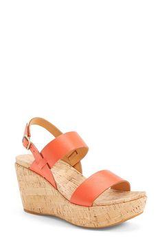 Kork-Ease®+'Austin'+Leather+Slingback+Wedge+Platform+Sandal+(Women)+available+at+#Nordstrom