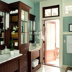 bathroom cabinets & colors