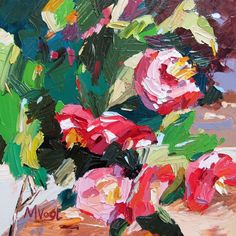 Marissa Vogl Fine Art: Abstract Modern Painting 'Sweet Temper'