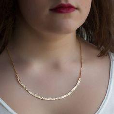 Collier arc de cercle plaqué or