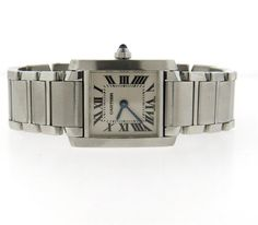 Cartier Tank Francaise Stainless Steel Lady's Watch Ref. 2384 Featured in our upcoming auction on July 26!