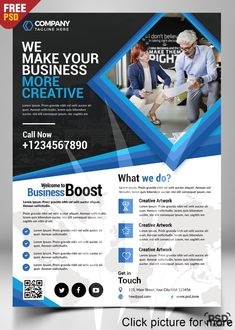 Corporate Business Flyer Free PSD is best for promoting your Business Services as well about your Company, Organization, Agency with a modern design look. The Corporate Business Flyer Free PSD is designed and created in adobe Photoshop.