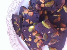 Chocolate Bark with Toasted Pistachios & Espresso Salt