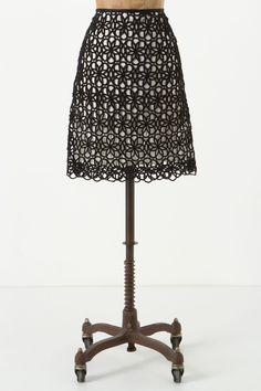 lace skirt via anthropologie.