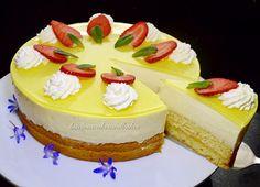 Lemon Torte - A refreshing and tangy cake, find the recipe at http://lusciouscakesandbakes.com/recipe/lemon-torte/