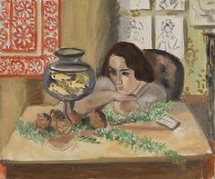 Henri Matisse - Young Woman before an Aquarium (Jeune fille devant un aquarium)