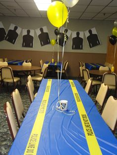 Police Retirement Party Decorations Firefighter Policeman pertaining to Police Party Decorations Police Retirement Party, Retirement Party Decorations, Retirement Parties, Police Party Theme, Retirement Ideas, Cop Party, Promotion Party, Ems, Birthday Party Themes