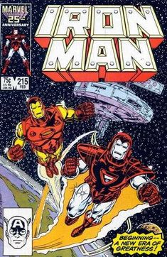 Cover for Iron Man February 1987 Marvel Comics Vintage, Vintage Comic Books, Marvel Comic Character, Marvel Comic Books, Comic Superheroes, Marvel Characters, Cartoon Characters, Thanos Marvel, Marvel Comics Wallpaper