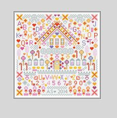 SWEETIES Counted Cross Stitch Sampler Kit by Riverdrift House